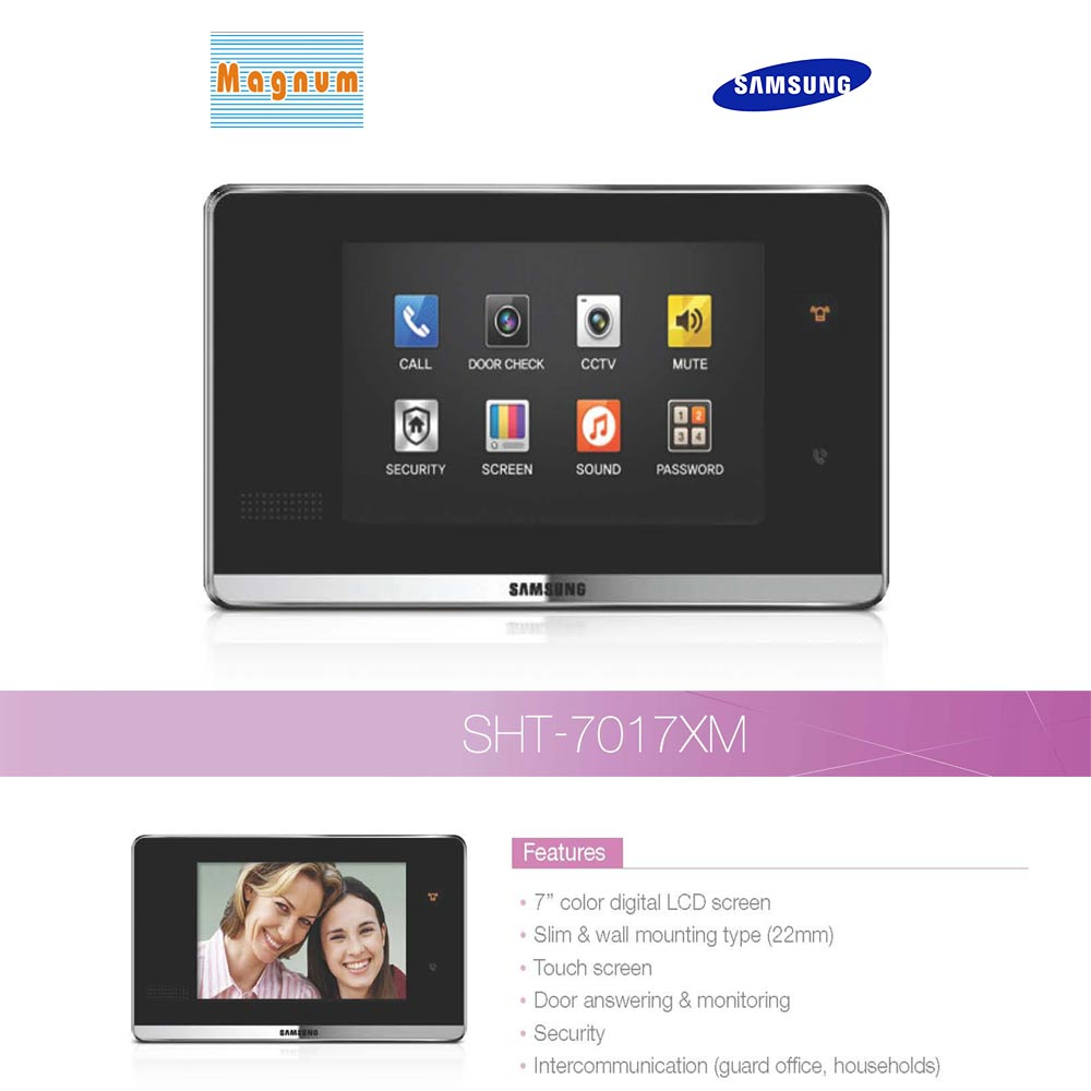 Samsung SHT–7017XM Video Door Phone